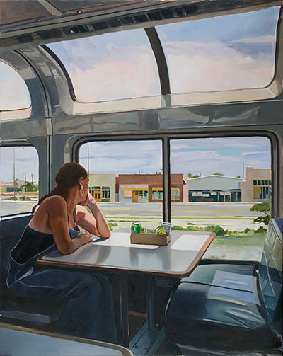 Patricia Chidlaw painting: Observation Car