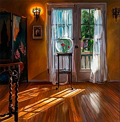 Patricia Chidlaw painting interior